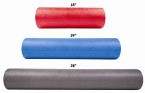Sizes of foam rollers